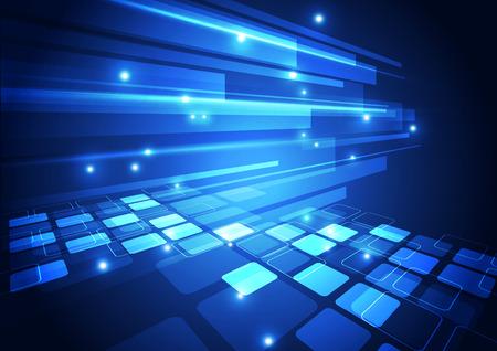 Vektor digitalen Technologie-Konzept, abstrakten Hintergrund Standard-Bild - 40828417