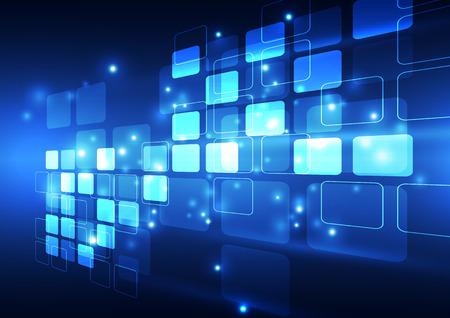 テクノロジー: 抽象的なベクトル デジタル技術の背景、イラスト