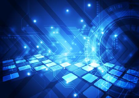 технология: вектор концепция цифровой технологии, абстрактный фон