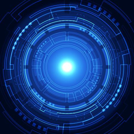 テクノロジー: ベクトル デジタル技術概念、抽象的な背景