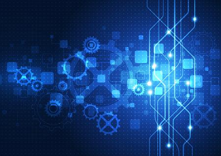 circuitos electronicos: vector de la tecnolog�a digital concepto, fondo abstracto