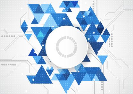 将来の技術コンセプトの背景を抽象化、ベクトル イラスト