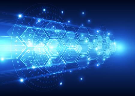 벡터 디지털 속도 기술, 추상적 인 배경