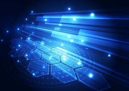 vecteur concept de la technologie numérique, abstrait