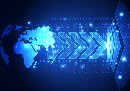 vector digital global communication technology abstract background
