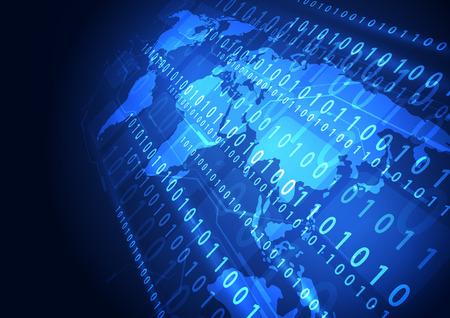 벡터 디지털 글로벌 기술 개념 추상적 인 배경 일러스트