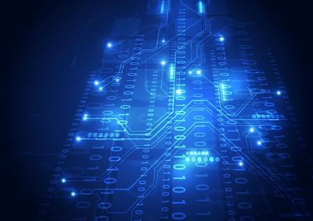 circuitos electronicos: vector de la tecnología digital concepto abstracto de fondo