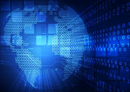 alrededor del mundo: vector digital concepto global de tecnolog�a de fondo abstracto