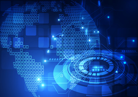 technology abstract: vector digital global technology concept abstract background