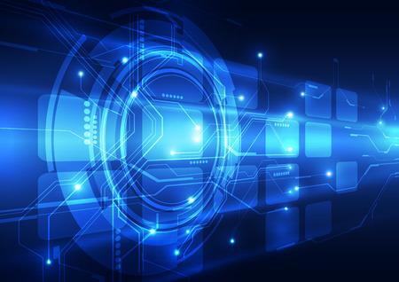 technologie: concept de la technologie numérique abstrait Illustration