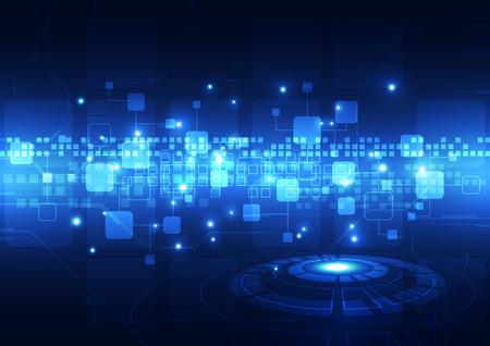 circuito integrado: concepto de la tecnología digital de fondo abstracto