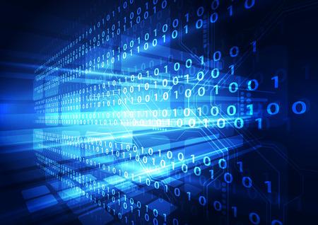 テクノロジー: デジタル技術の概念の抽象的な背景  イラスト・ベクター素材