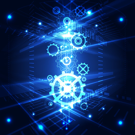 digital technology: vector abstract engineering future technology, illustration background Illustration