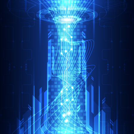 telecoms: vector abstract telecoms future technology, illustration background Illustration