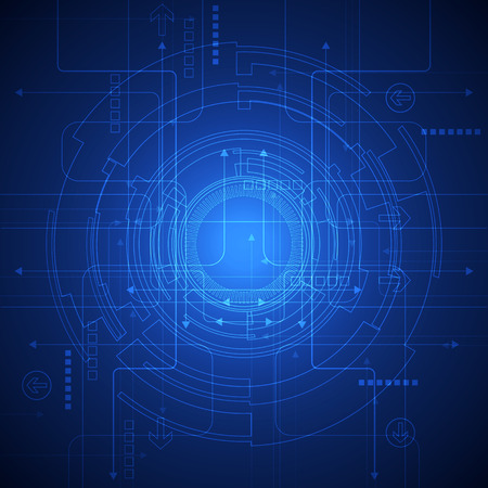 mechanism: Abstract vector background. Futuristic technology style. Illustration
