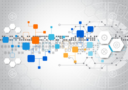 technology: La tecnologia sfondo astratto con i vari elementi tecnologici