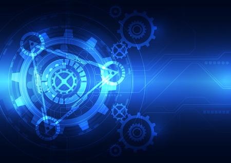 ingeniería: la tecnología del futuro vector de ingeniería abstracto, ilustración de fondo