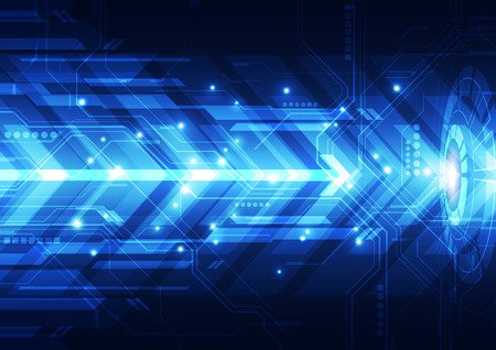 computer science: vector engineering technology system, abstract background