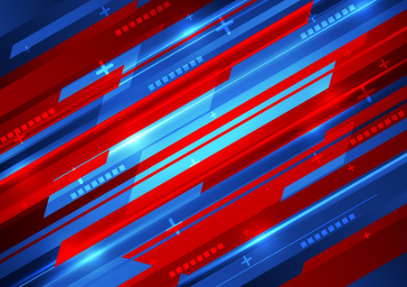 blue arrow: abstract vector digital technology background design Illustration