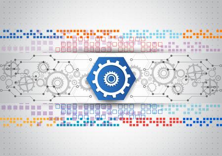 abstract vector engineering technologie achtergrond ontwerp Stock Illustratie