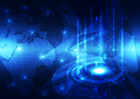 business abstract: abstract vector digital global telecom technology background