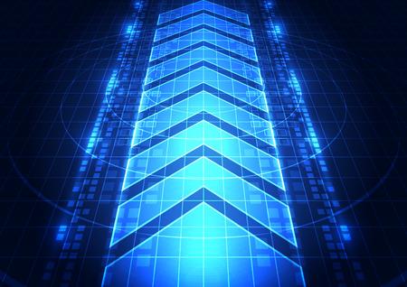digital abstract: abstract vector digital future technology background illustration Illustration