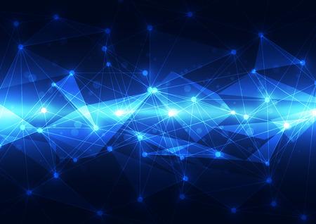 future: abstract vector future technology background illustration