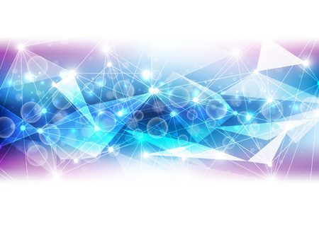 light effect: abstract vector future technology background illustration