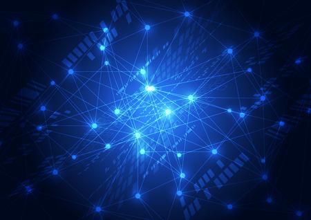 abstract vector toekomstige netwerk technologie achtergrond illustratie