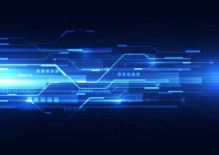 abstrakcyjny wektor prędkości technologia przyszłości tle ilustracji Ilustracje wektorowe