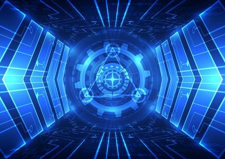 abstrakte Vektorgeschwindigkeit Zukunftstechnologie Hintergrund Illustration