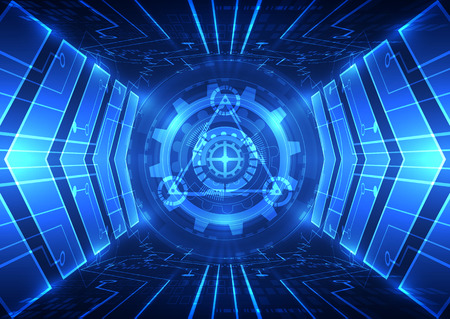 abstract vector speed future technology background illustration