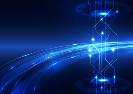 circuito integrado: Vector del extracto hola tecnolog�a de Internet de alta velocidad de ilustraci�n de fondo Vectores
