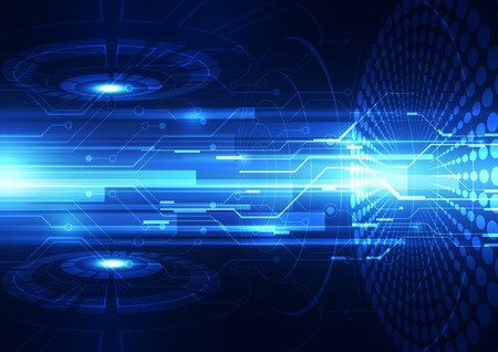 future success: abstract vector speed future technology background illustration