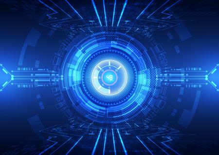 technológiák: absztrakt vektor hi internet technológiai háttér illusztráció Illusztráció