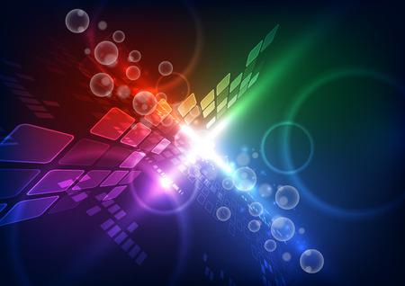 抽象的なベクトル将来テレコム技術背景イラスト