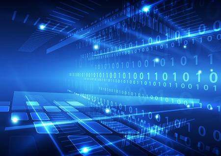 circuitos electronicos: abstracto vector tecnología del futuro fondo de datos ilustración Vectores