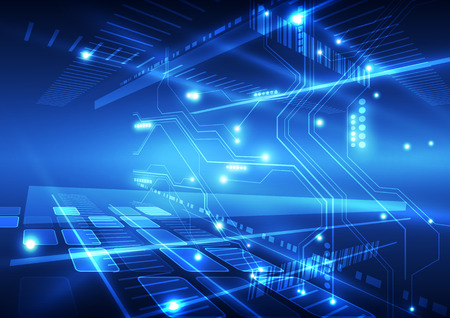 tecnologia: astratto vettore tecnologia del futuro sfondo illustrazione Vettoriali