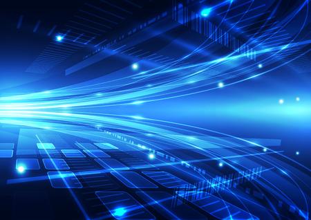 technológiák: absztrakt vektor jövő internetes technológiai háttér illusztráció