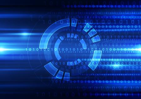 circuito integrado: abstracto vector tecnología del futuro concepto de ilustración de fondo Vectores