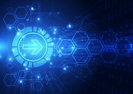 circuito integrado: Vector abstracto del diseño del fondo de la tecnología digital