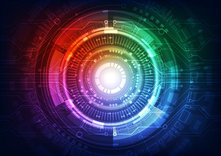 Abstract vector toekomstige technologie concept achtergrond afbeelding Stockfoto - 43492021