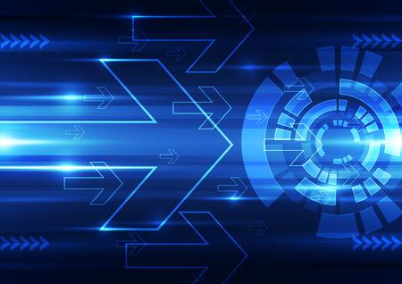 résumé, vecteur, la technologie future fond illustration de vitesse Vecteurs