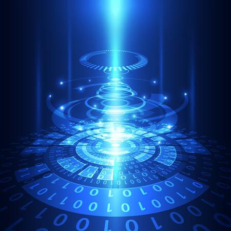 abstract vector technologie van de toekomst telecom achtergrond illustratie Stock Illustratie