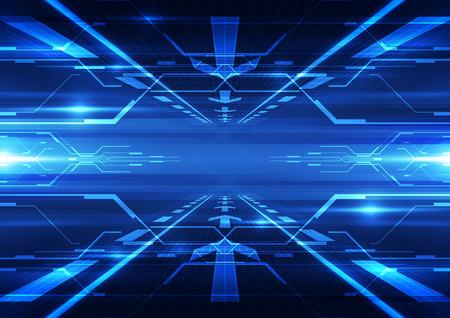 abstraktní: abstraktní vektorové budoucí technologie telecom pozadí obrázku Ilustrace