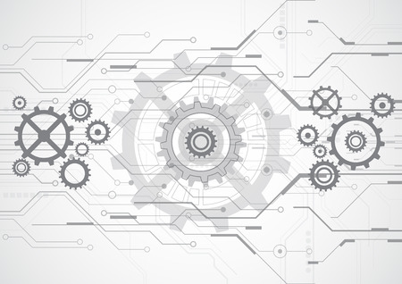 abstract vector future technology background illustration