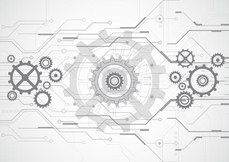industriales: abstracto vector ilustración de fondo de la tecnología del futuro