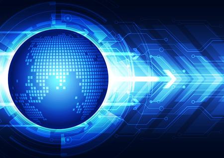 tecnologia comunicacion: abstracto tecnolog�a de la comunicaci�n global, de vectores de fondo