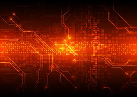 luz roja: circuito vector resumen de antecedentes Ilustración de la placa Vectores