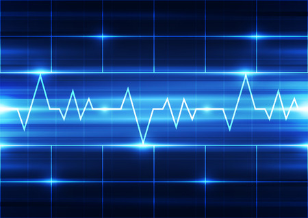 electrocardiogram: abstract vector electrocardiogram background illustration